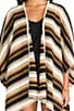 Turkic Poncho Sweater, view 4, click to view large image.