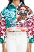 Flower Bomb Embroidered Bomber, view 5, click to view large image.