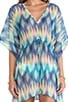Rio Vista Ikat Chiffon Caftan, view 5, click to view large image.