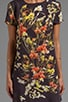Botanic Print Tee Dress, view 5, click to view large image.