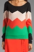 Chevron Sweater, view 3, click to view large image.