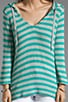 Bromley Striped Hoodie, view 3, click to view large image.