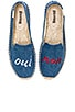Oui Non Embroidered Smoking Slipper, view 1, click to view large image.