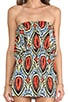 Strapless Cutout Mini Dress, view 5, click to view large image.