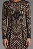 Emma Long Sleeve Zebra Jacquard Dress, view 5, click to view large image.