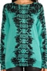 Carey Feather Print Pullover, view 4, click to view large image.