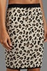 Belen Leopard Jacquard Skirt, view 5, click to view large image.