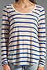 Resort Stripe Minerva Long Sleeve Top, view 3, click to view large image.