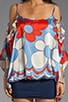 Fiori Blouson Dress, view 5, click to view large image.
