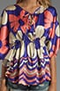 Fiori Caftan Top, view 3, click to view large image.