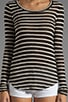 Rosewood Rib Stripe Tee, view 3, click to view large image.