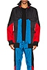 BLOUSON COLOR BLOCK SHELL PADDED TRACK, view 1, click to view large image.