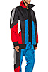 Color Block Shell Padded Track Jacket, view 3, click to view large image.