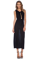 DEREK LAM 10 CROSBY Twist Front Maxi Dress in Black