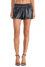 Elastic Waist Boxer Short in Black