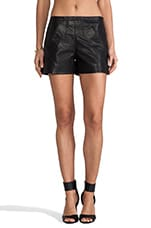 Western Leather Shorts in Black