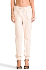 RUNWAY Leather Pant in Nude