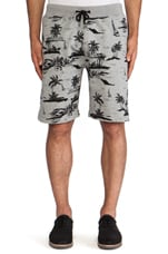 Black Sands Sweatshort in Grey
