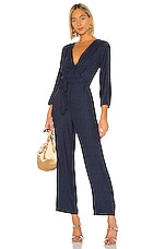 1. STATE Front Tie Waist Jumpsuit in Blue Night