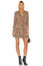 1. STATE Leopard Muse Patch Pocket Shirt Dress in Caramel Multi
