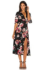 1. STATE Wrap Front Maxi Dress in Rich Black