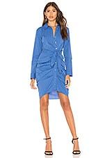 1. STATE Button Down Shirt Dress in Blue Bonnet