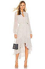 1. STATE Mock Neck High Low Dress in New Ivory