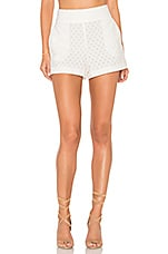 Flat Front Lace Short in Cloud