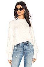 1. STATE Mixed Cable Knit Sweater in Antique White