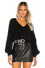 1. STATE Bubble Sleeve Sweater in Rich Black