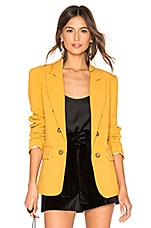 1. STATE Ruched Sleeve Blazer in Honey Pot