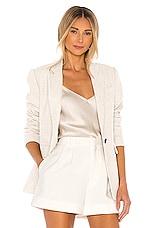 1. STATE Linen Button Front Blazer in Natural