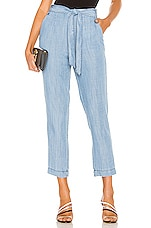 1. STATE Tie Waist Tapered Leg Pant in Blossom Wash