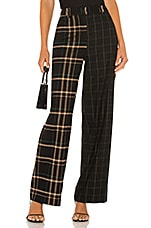 1. STATE Mixed Print Wide Leg Pant in Rich Black
