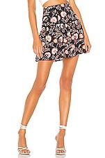 1. STATE Flounce Hem Petal Leaf Garden Skirt in Pink Blush