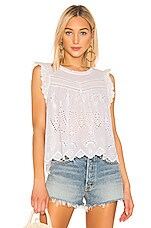 1. STATE Embroidered Eyelet Blouse in Ultra White