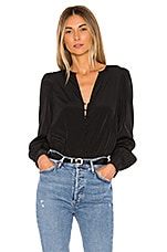 1. STATE Button Detail Blouse in Rich Black