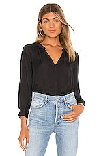 1. STATE Shadow Stripe Button Down in Rich Black