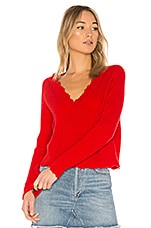27 miles malibu Bette Sweater in Tomato