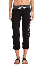 Native Heart Baggy Pant in Black