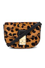 3.1 phillip lim Pashli Mini Saddle Belt Bag in Leopard