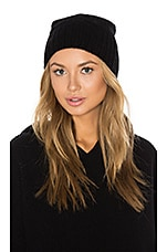 Hattie Cashmere Beanie in Black