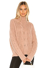 360CASHMERE Alexia Turtleneck in Honey
