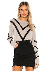 360CASHMERE Paulina Sweater in Hazel & Black