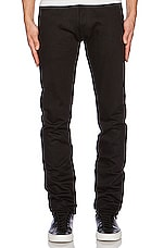 Slim Tapered Denim en Double Black Selvedge
