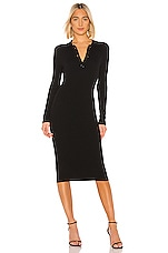 525 america Light Weight Polo Dress in Black