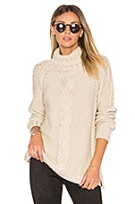525 america Cable Knit Sweater in French Vanilla