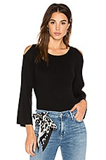 Cut Out Shoulder Sweater in Black