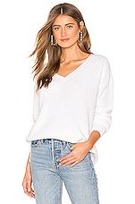 525 america Emma V Neck Sweater in Bleach White