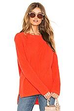 525 america Emma Shaker Sweater in Bright Orange
